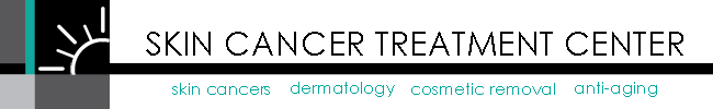 Skin Cancer Treatment Center Logo with tagline