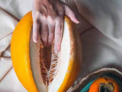Skin Cancer Hand with Fruits