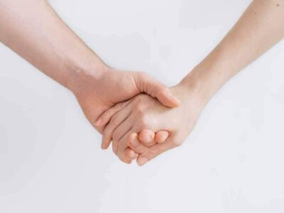 Skin Cancer Patients Holding Hands